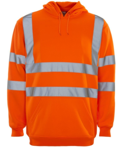 Hi Viz  Over The Head Hooded  Sweatshirt Yellow or Orange