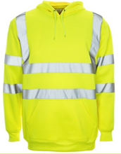 Load image into Gallery viewer, Hi Viz  Over The Head Hooded  Sweatshirt Yellow or Orange