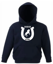 Load image into Gallery viewer, PERSONALISED HORSE PRINT HOODY