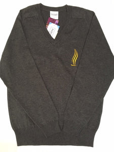 Lowton Church of England High School Girls / Boys Grey Jumper with logo