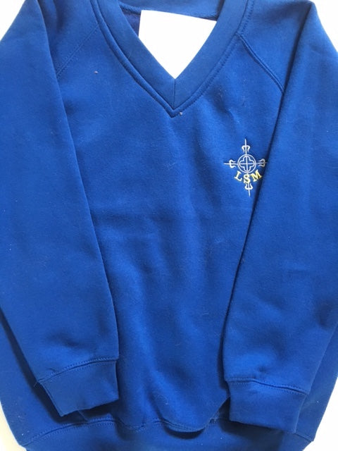 Lowton St Marys Primary School V Neck Sweatshirt with LOGO