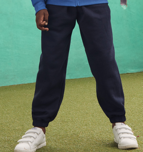 Jogging Bottoms Elastic Cuff Assorted Colours
