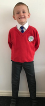 Load image into Gallery viewer, Leigh St Marys Primary School V Neck Sweatshirt with LOGO