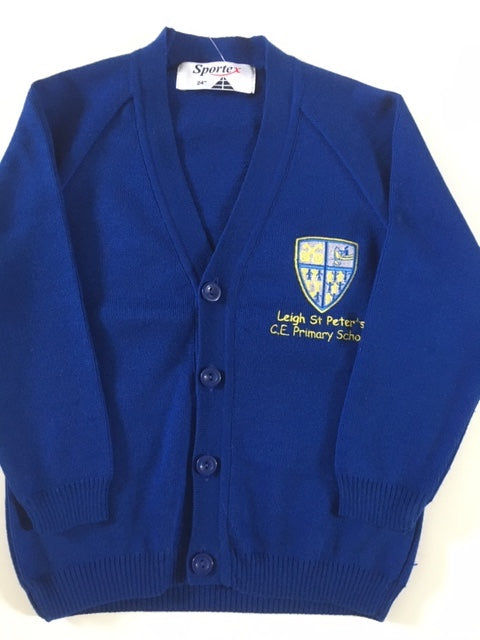 Leigh St Peters Nursery & Reception  Knitted Cardigan with LOGO