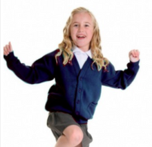 Load image into Gallery viewer, The Beeches Pre School Cardigan with LOGO   Navy or Bottle Green