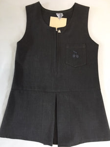Leigh Central Primary School Zip Front Pinafore Grey