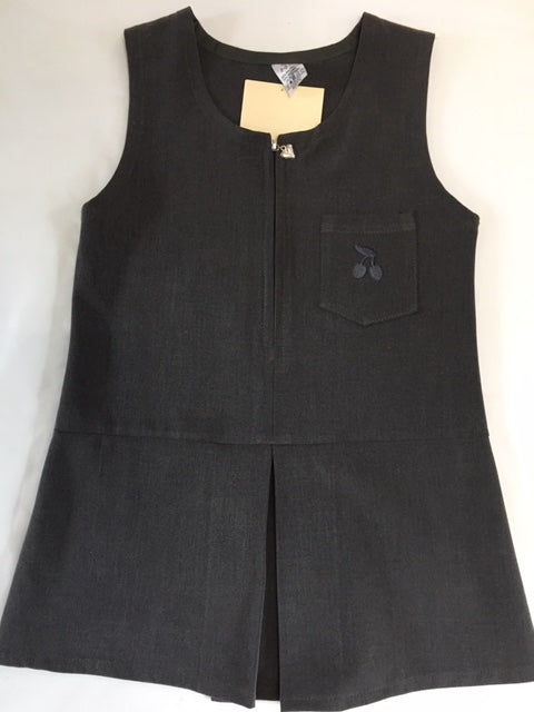 Leigh St Marys Primary School Zip Front Pinafore Grey