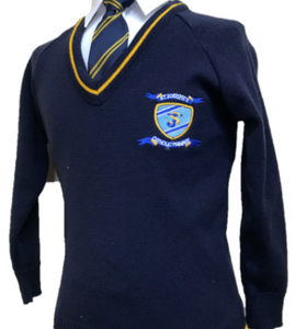 St Joseph's Catholic Primary School  Knitted V Neck Jumper with LOGO