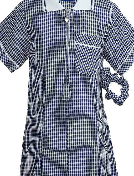 The Beeches Pre School Navy or Bottle Green Gingham Summer Dress