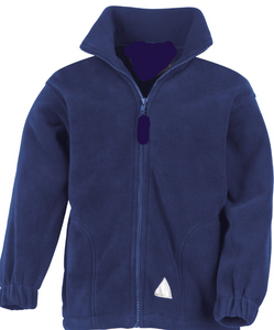 Navy Zip Up Fleece Jacket (to add your school logo please go to your school site)