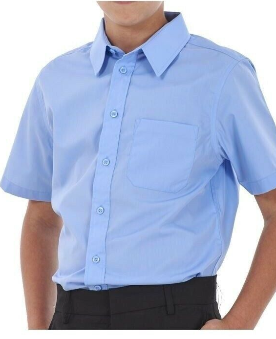 Boy's Blue Short Sleeve Shirt