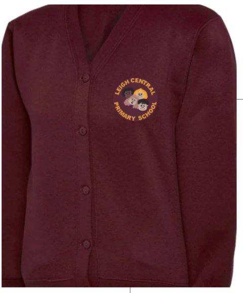 Leigh Central Primary School Cardigan with LOGO