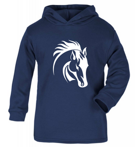 HORSE HEAD DESIGN 2 PRINT HOODY