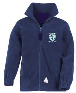 Navy Zip Up Fleece Jacket with or without St Joseph's School Logo