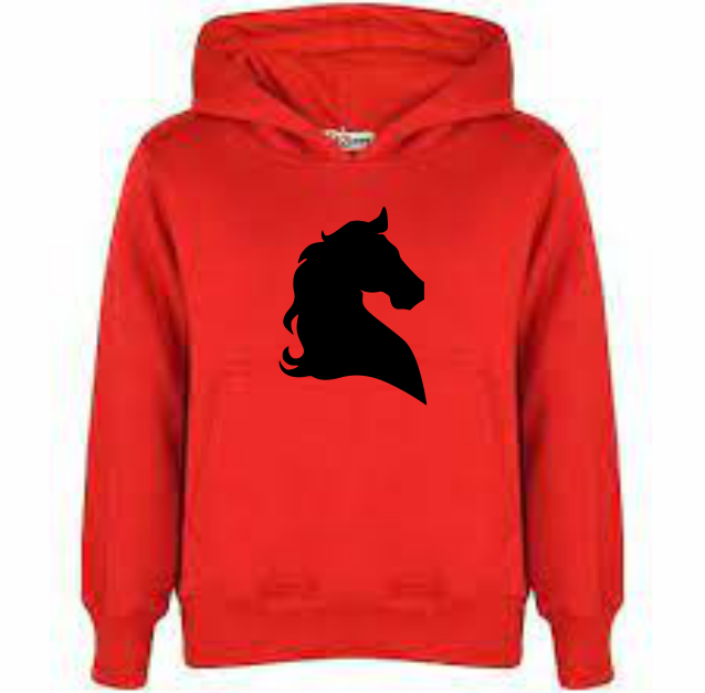 HORSE HEAD DESIGN 1 PRINT HOODY