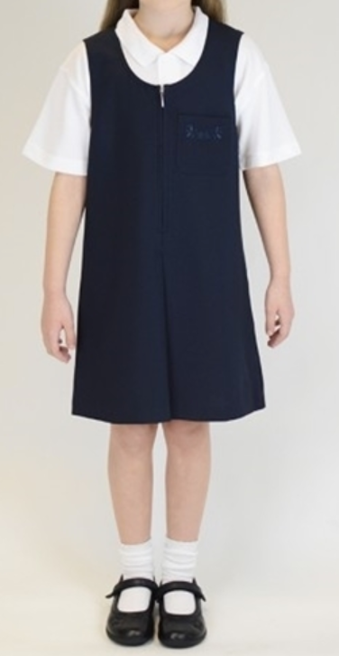 St Gabriels Catholic Primary School Zip Front Pinafore Navy