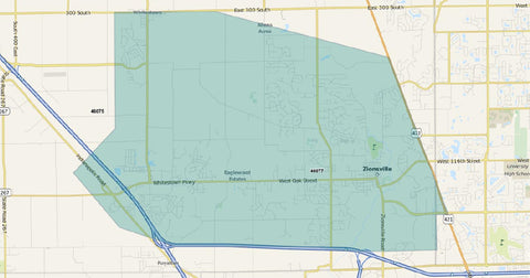 Zionsville Magazine Distribution Map