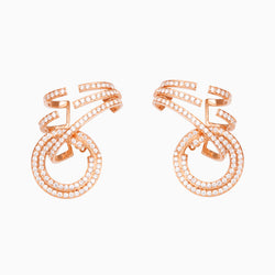Pavé Open Circle Earrings