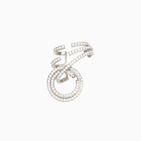 Pavé Open Circle Single Earring