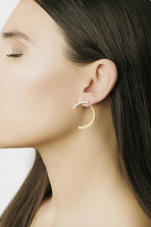Huge Simple Arc Earring
