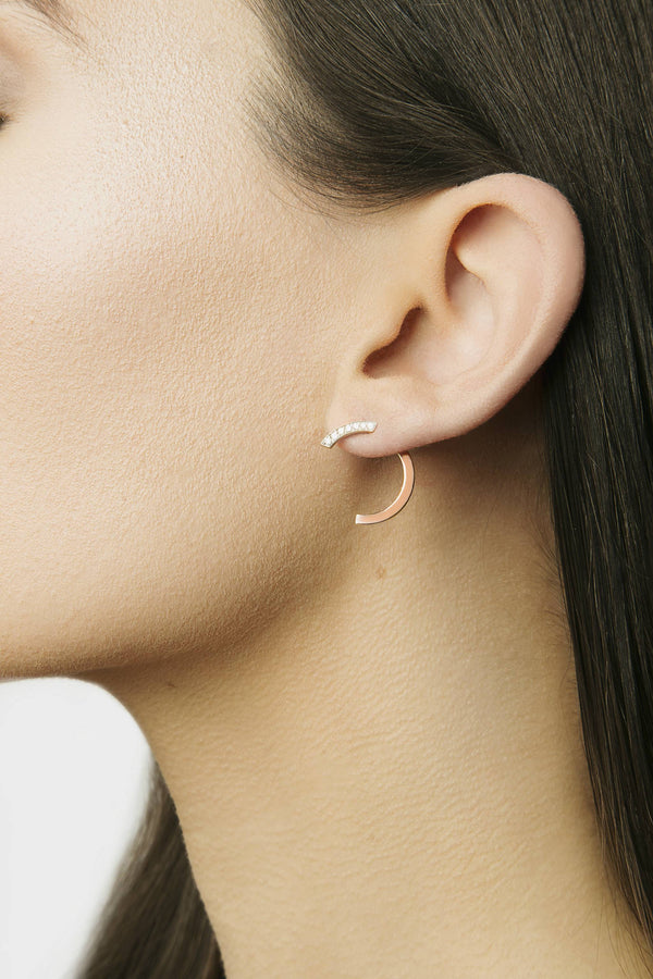 Boucles d'oreilles Simple Arc