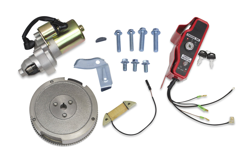 Everest Electric Starter Motor Kit Fits Honda GX340 GX390 Mounting Bolts & Keyway