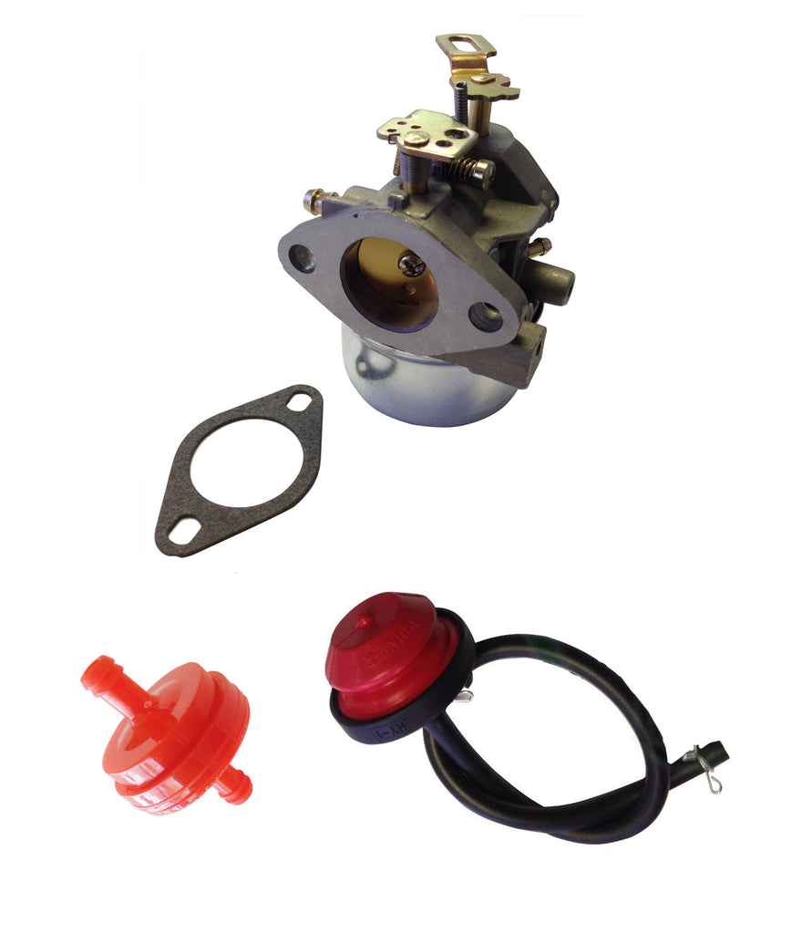 Everest Carburetor With Primer & Filter Fits Tecumseh HMSK80 HMSK90 #640349 640052 640054