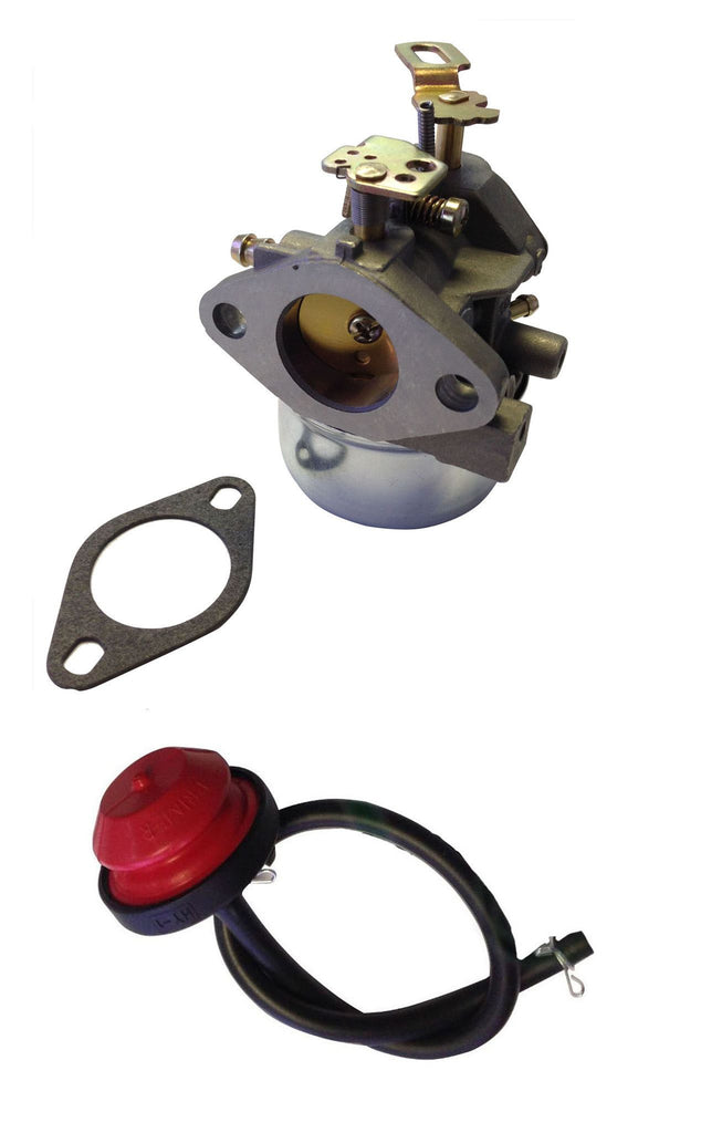 Everest Carburetor with Primer & Fuel Filter Fits Tecumseh LH318SA LH358SA 640349 640052 640054