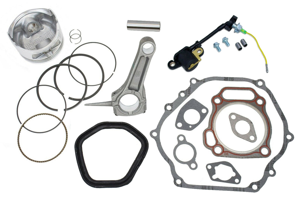 New Piston Kit With Connecting Rod and Full Gasket Set Fits Honda GX390 Engines Oil Sensor