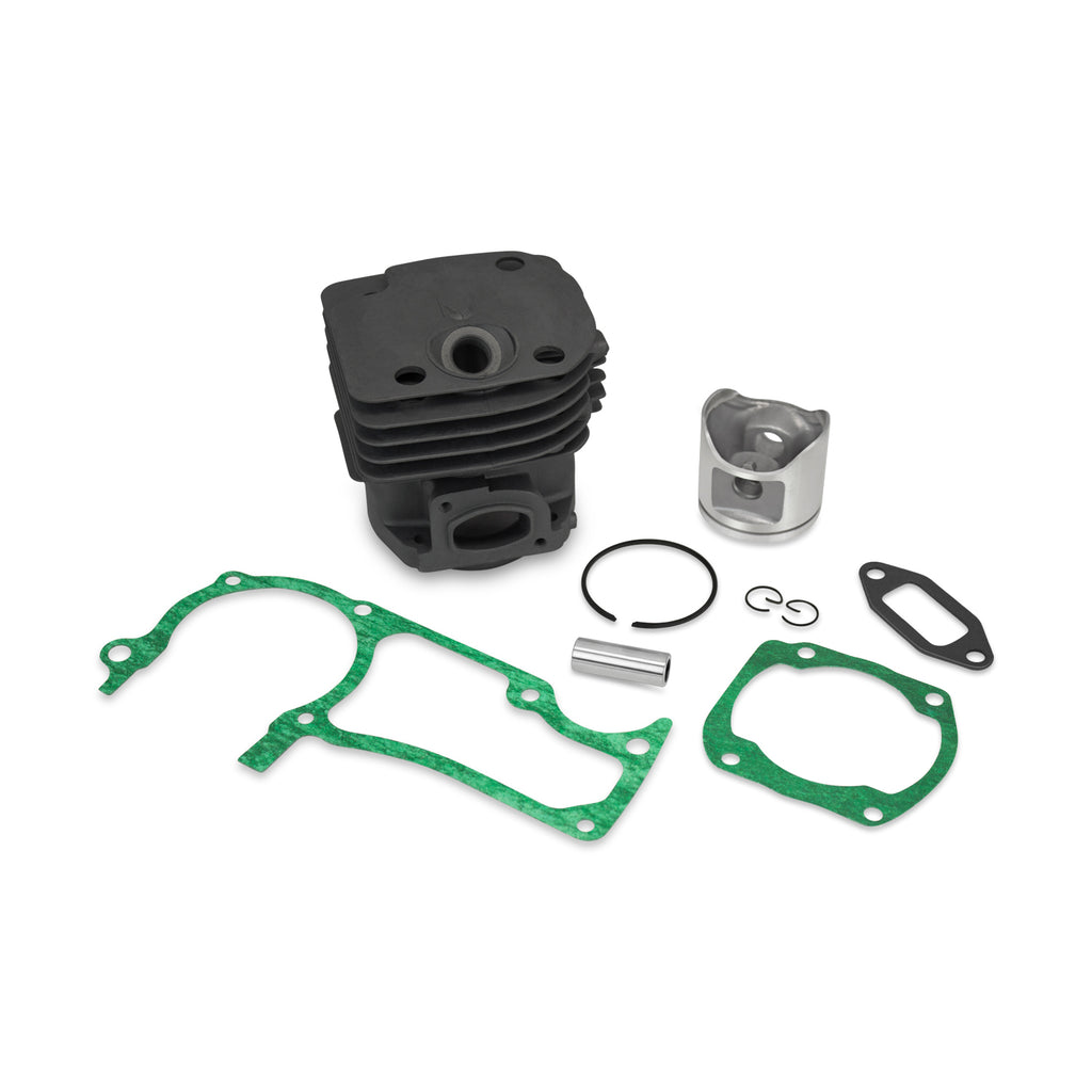New Cylinder Head Piston Kit & Gaskets Fits Jonsered 2065 48mm (O) Square Intake