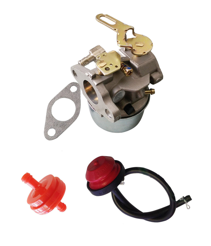 Everest Carburetor With Primer Bulb & Filter Fits Tecumseh HSK40 HSK50 HS50 640084B