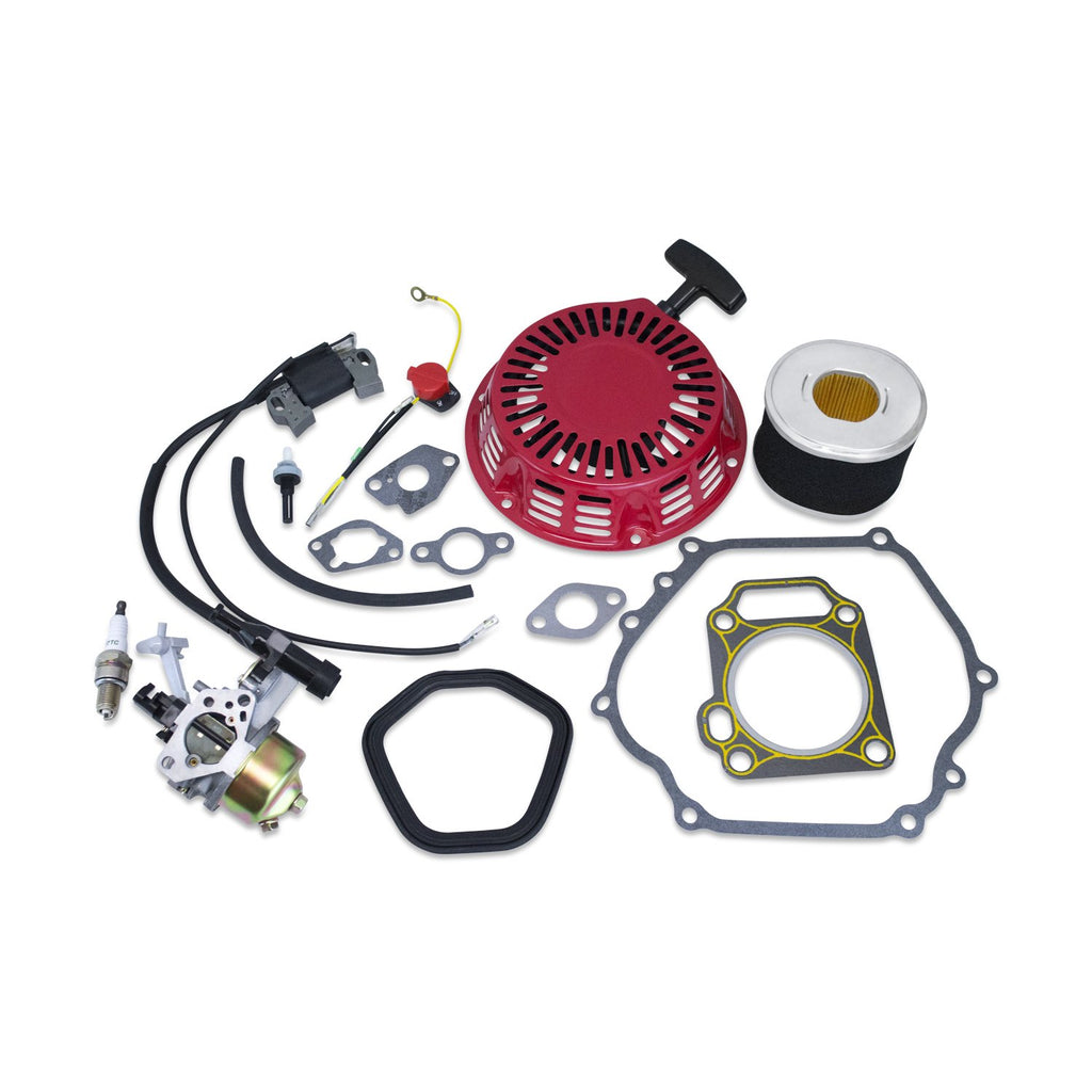 Tune Up Kit Fits Honda GX270 Carburetor Air Filter Recoil Ignition Coil Gaskets