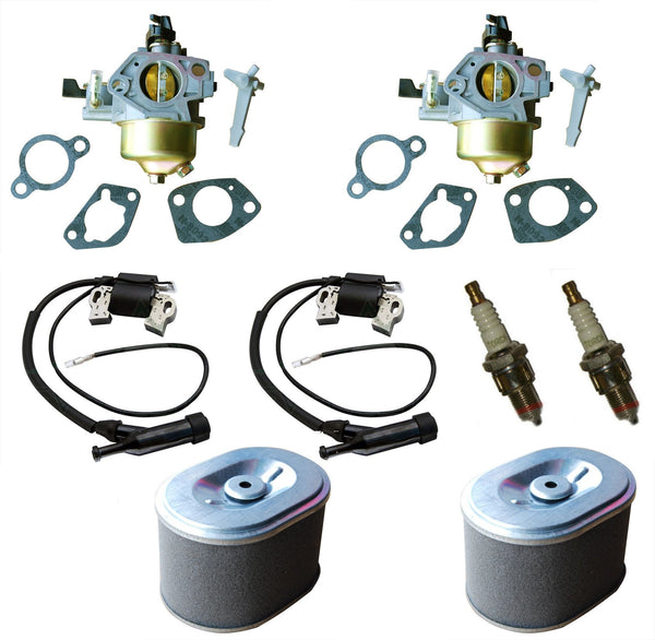 Everest Kit Carburetor Air Filter Ignition Coil & Spark Plug Fits Honda GX200 2 Pack