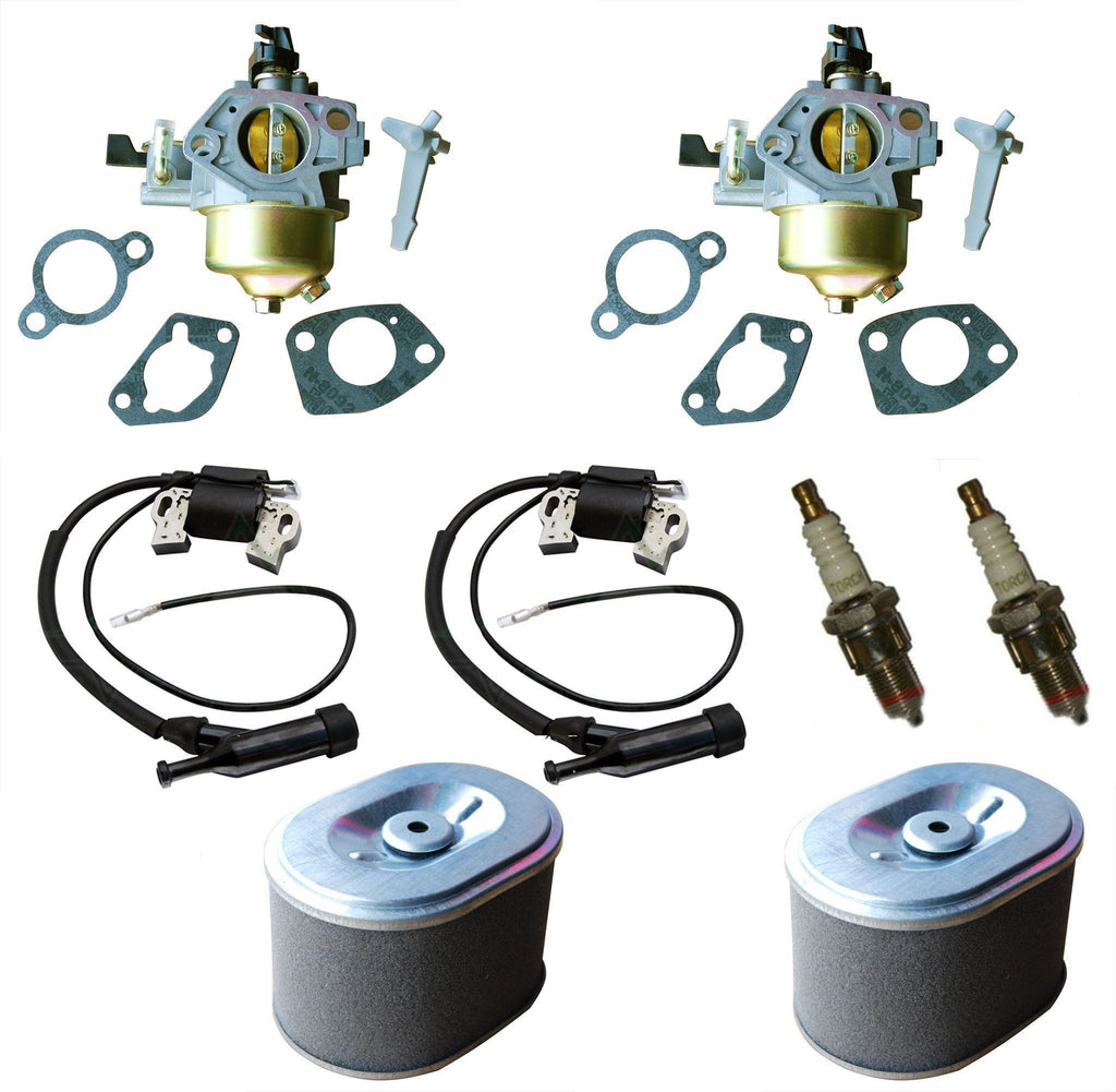 Everest Kit Carburetor Air Filter Spark Plug & Ignition Coil Fits Honda GX390 2 Pack