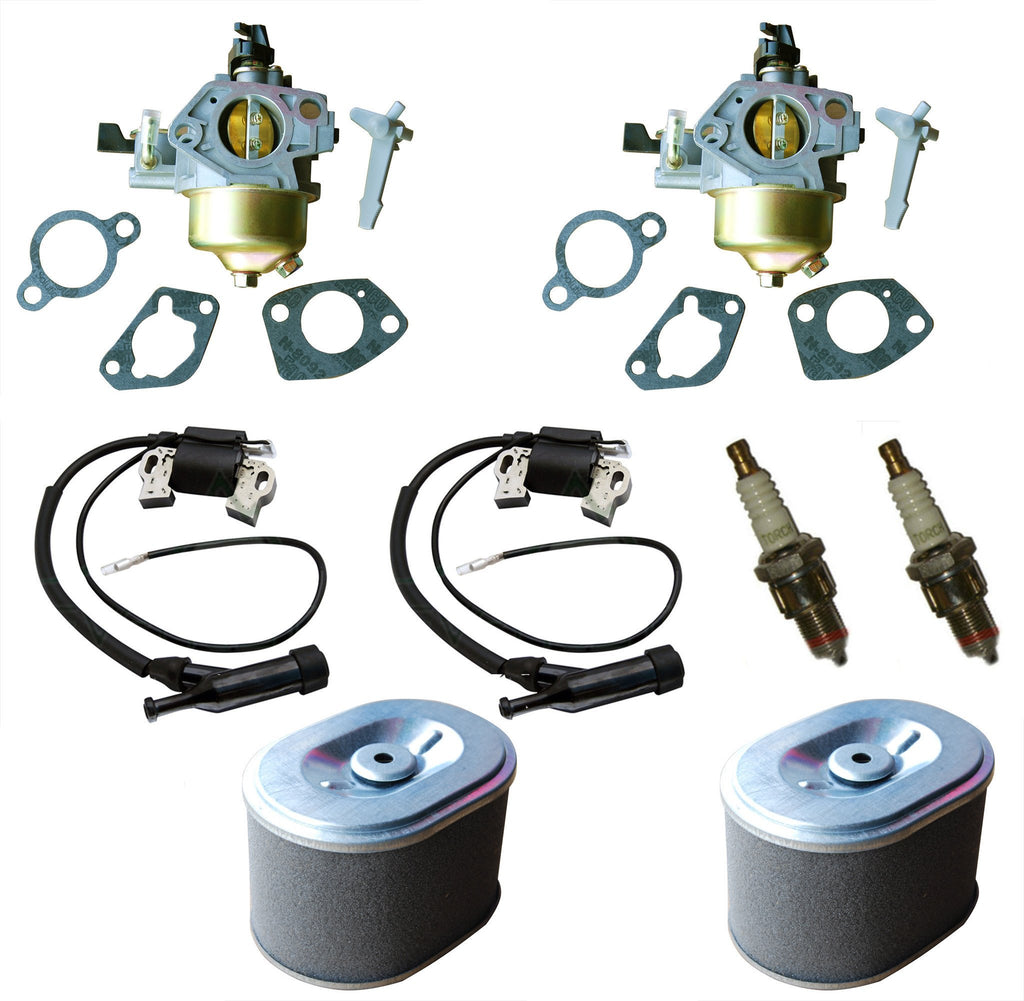 Everest Kit Carburetor Air Filter Ignition Coil & Spark Plug Fits Honda GX240 8HP 2 Pack