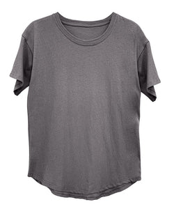 RECYCLED COTTON CLASSIC BASIC TOP - DUSTY GREY