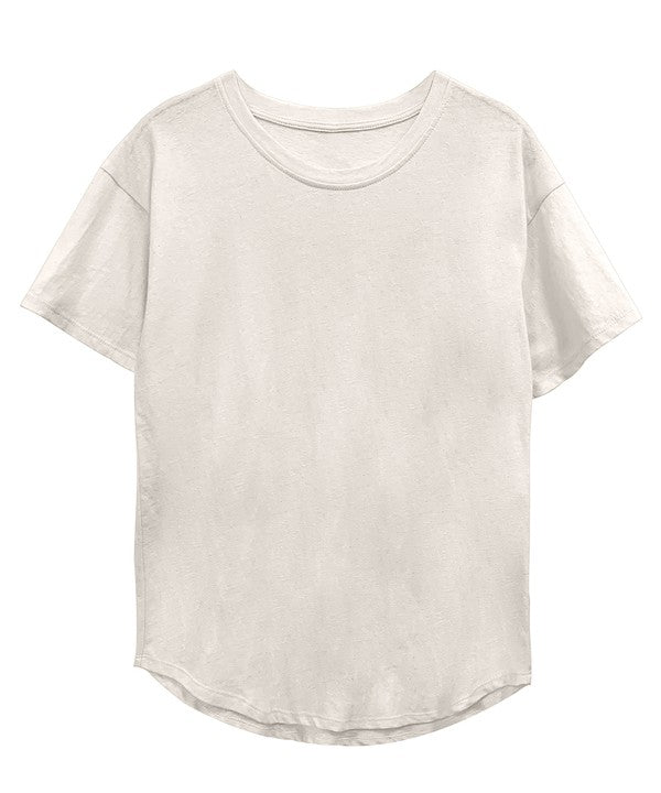 RECYCLED COTTON CLASSIC BASIC TOP - BANANA