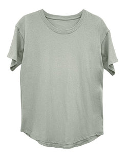 RECYCLED COTTON CLASSIC BASIC TOP - MINT