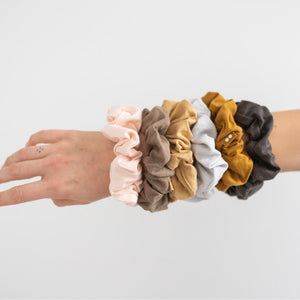 SCRUNCHIES - BLUSH WALNUT