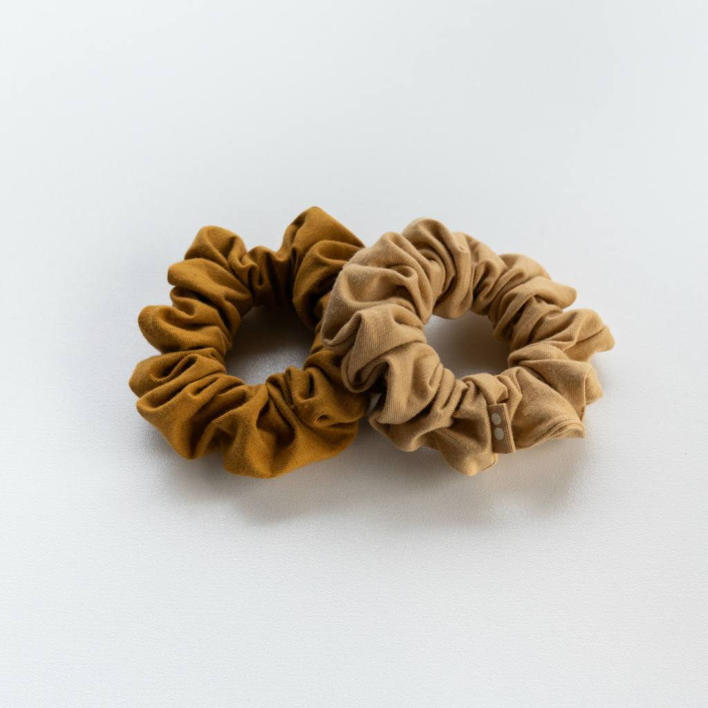 SCRUNCHIES -  GOLD SAND