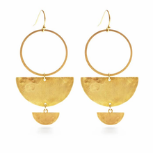 Load image into Gallery viewer, DOUBLE HALF MOON EARRINGS