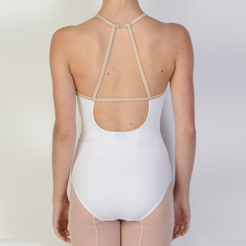 X Front: WHITE/NUDE