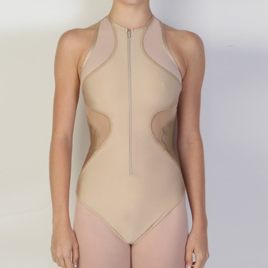 Contour Zip-Up: NUDE