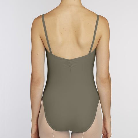 Pinch-Front Leotard:  CAPPUCCINO