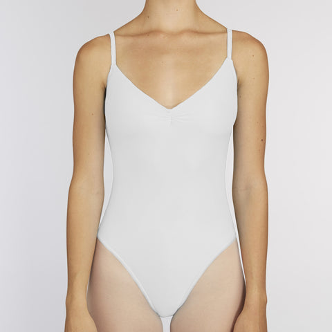 Pinch-Front Leotard:  WHITE