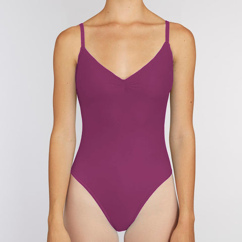 Pinch-Front Leotard:  PLUM