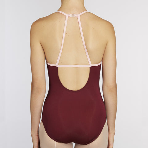 X-Front Leotard:  WINE / PINK