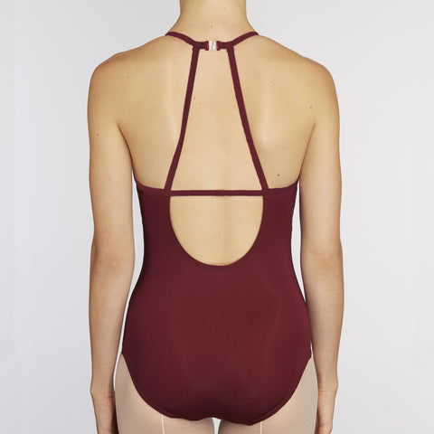 X-Front Leotard:  WINE / WINE