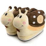 chaussons escargot marron