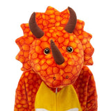 kigurumi tricératops orange enfant